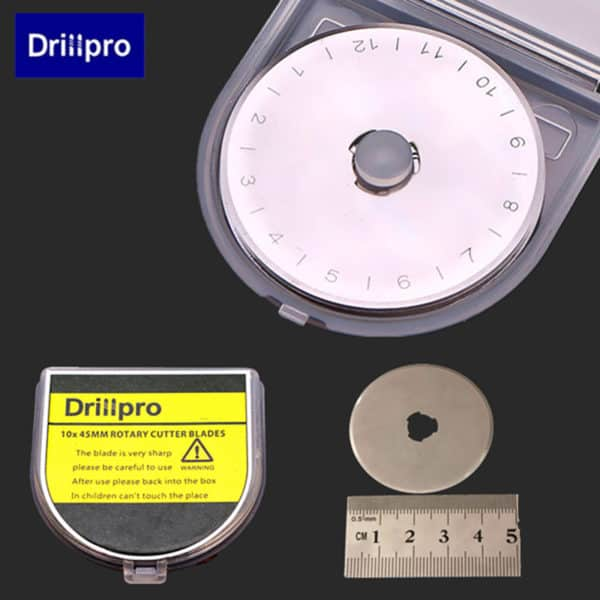 Drillpro 10pcs 45mm Rotary Cutter Blades 5