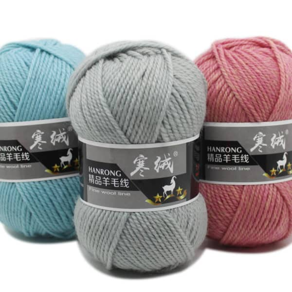 Top Quality 100g/ball 125 Meters Merino Wool Knitted Crochet Knitting Yarn Sweater Scarf Sweater Environmental Protection 1