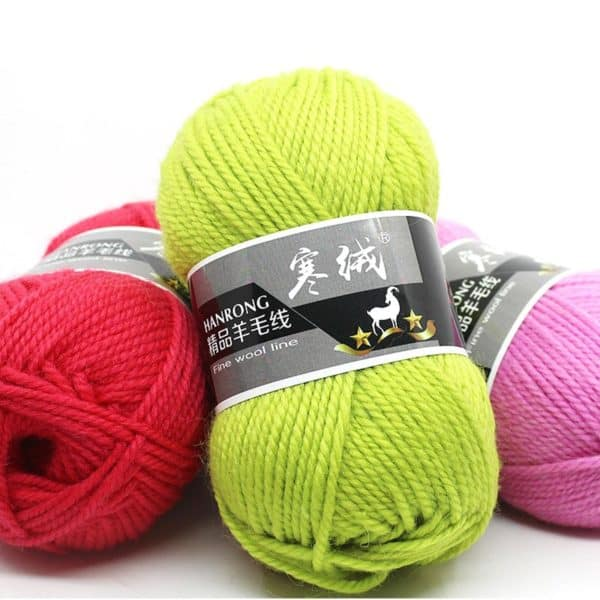 Top Quality 5pcs=500g 60color Merino Wool Knitted Crochet Knitting Yarn Sweater Scarf Sweater Environmental Protection 4
