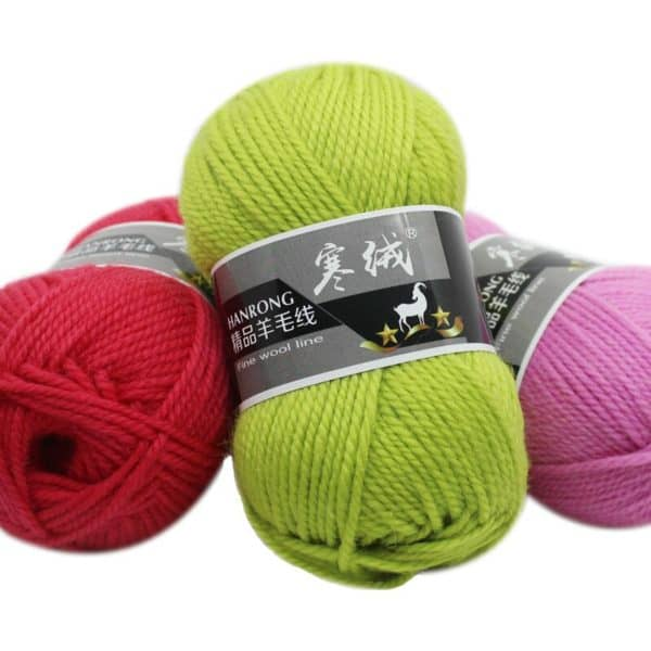 1Pc=100g Merino Wool Crochet Thick Yarn For Knitting Needlework knitted Wool Thread Yarn Scarf Sweater 3