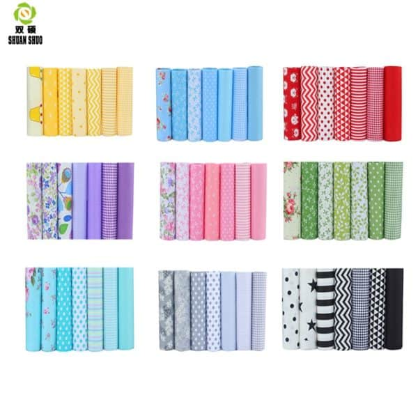 High Quality 10 Serie Floral Series Cotton Patchwork Fabric Fat Quarter Bundles Fabric For Sewing Doll Cloths 40*50cm 7pcs/lot 1